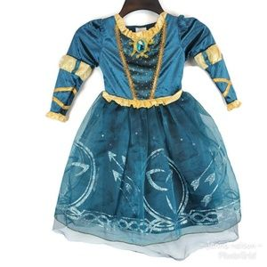Disney Store Brave Merida Princess Costume Dress S